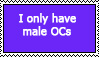 Only Male OCs Stamp by Leah-Hime
