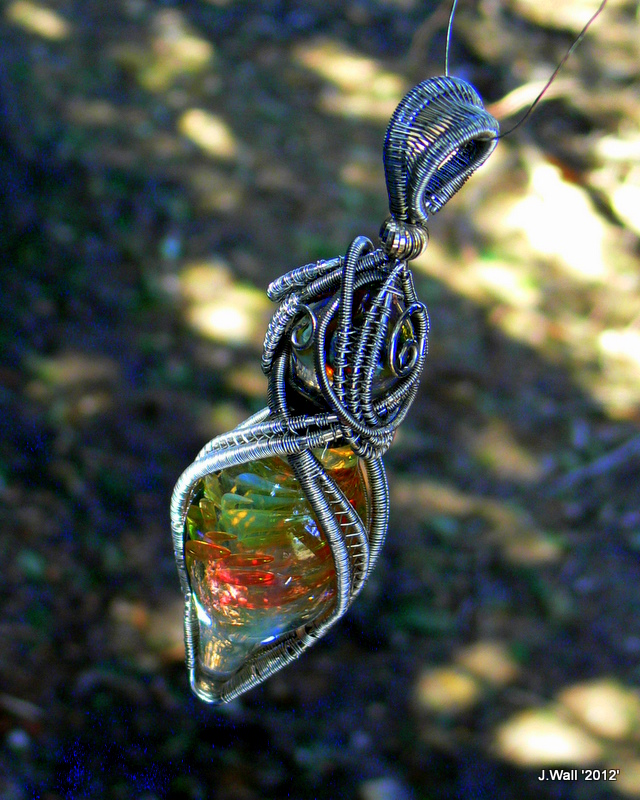 Wire Wrapped Blown Glass Pendant By Jwall805 On DeviantArt