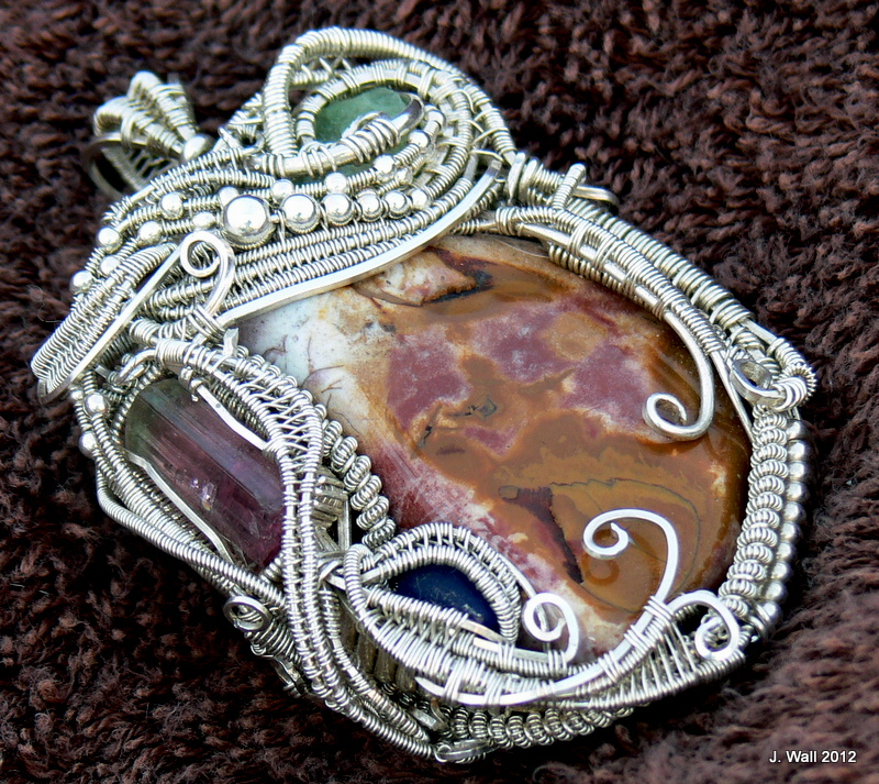 Sterling Silver Wire Wrapped Pendant by Jwall805 on DeviantArt