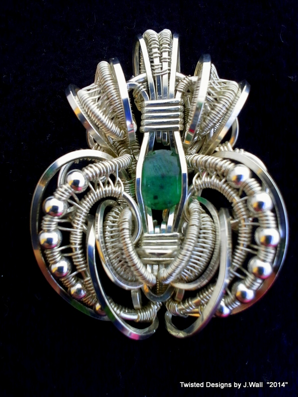 Sterling Silver Wire Wrapped Emerald by Jwall805 on DeviantArt