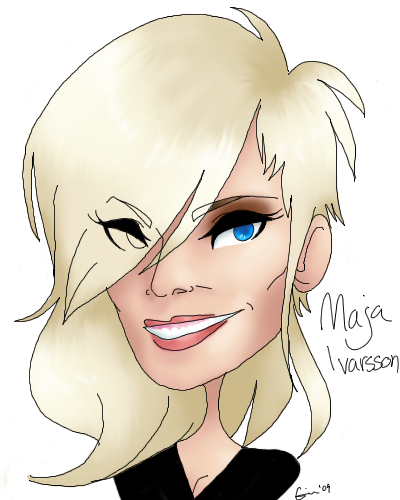 Maja Ivarsson caricature by stormith