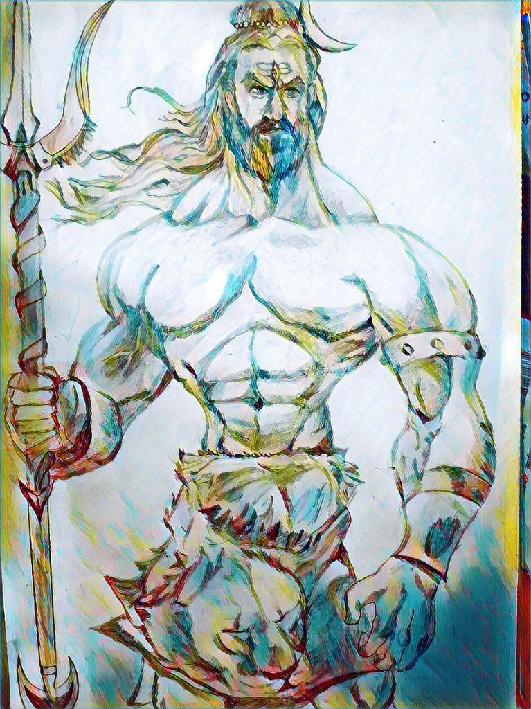 Lord Shiva Sketch By Nonininjai On Deviantart
