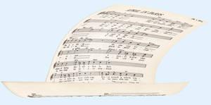 Floating Sheet Music 2