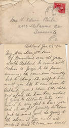 Letter From 1912
