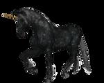 Unicorn Black Standing