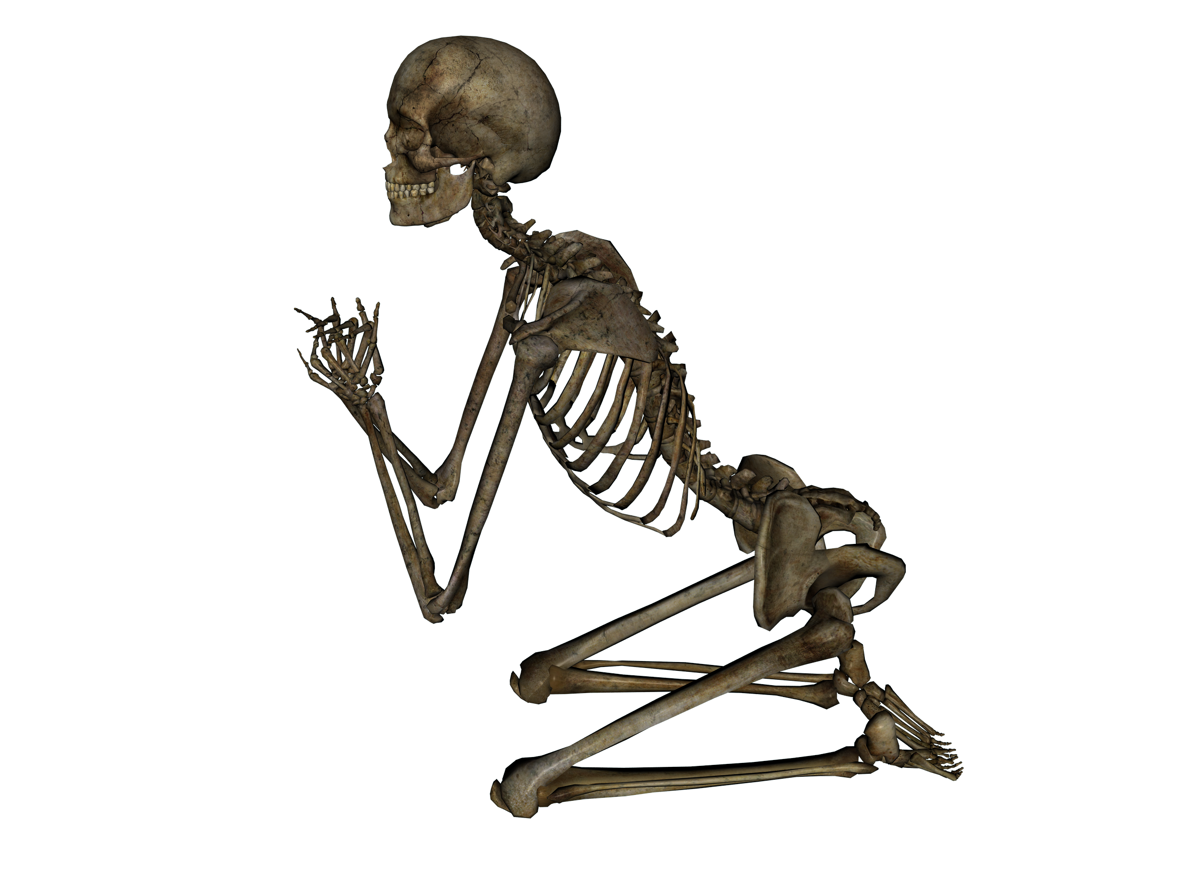Skeleton - Praying by markopolio-stock