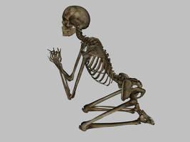 Skeleton - Praying - JPG by markopolio-stock