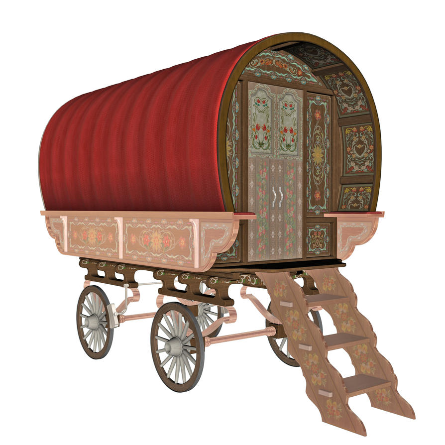 Gypsy Wagon 2 by markopolio-stock on DeviantArt