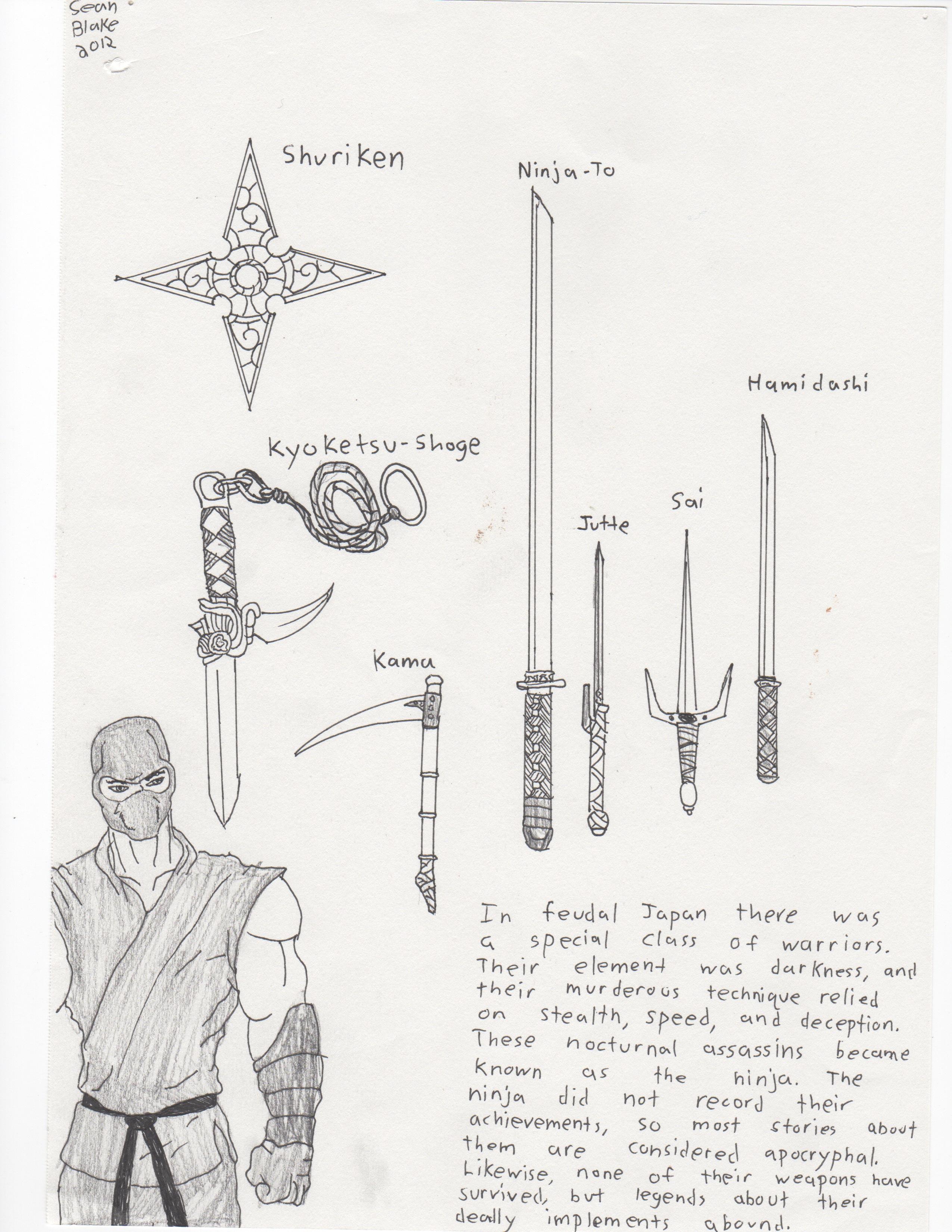 Kyoketsu Shoge Ninja Weapons by Xenom...
