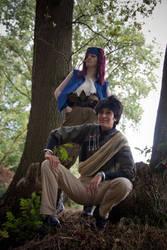Saiyuki cosplay - On the lookout