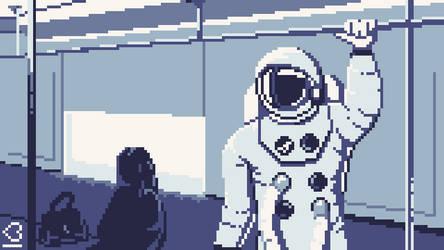 Pixel Dailies #Spacesuit by randomhuman