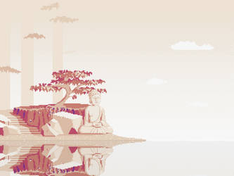 Buddha On The Shore by randomhuman