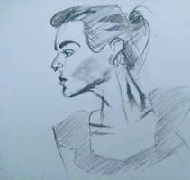 Female Profile Portrait by randomhuman