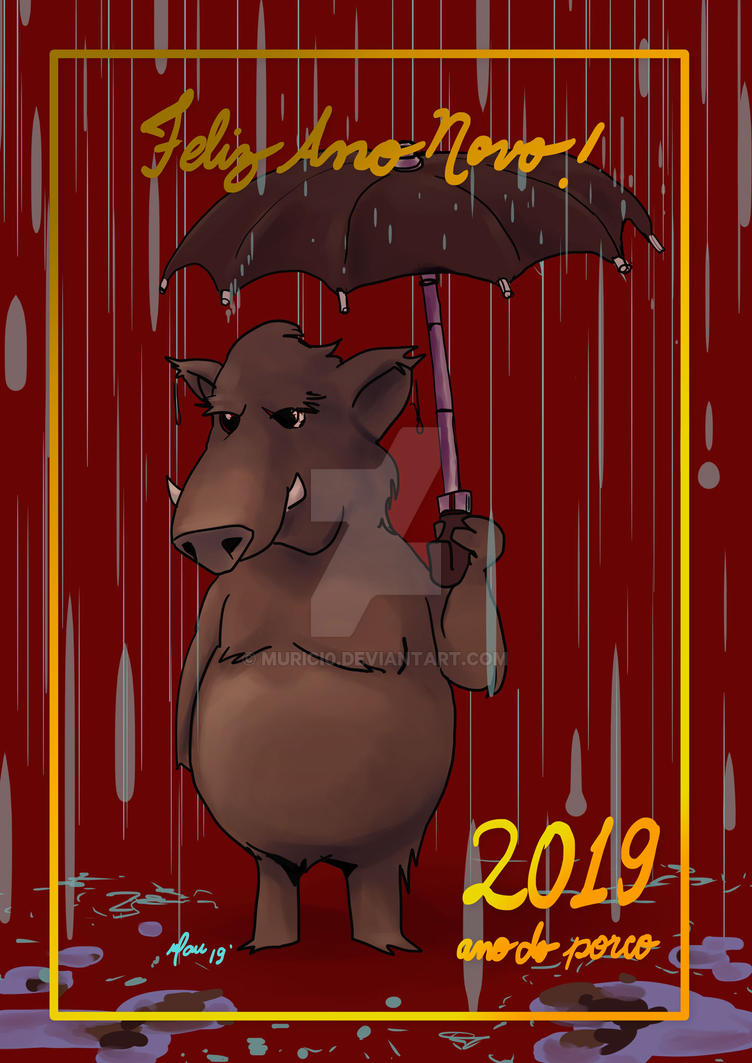 Happy year of the (wild)pig! by murici0