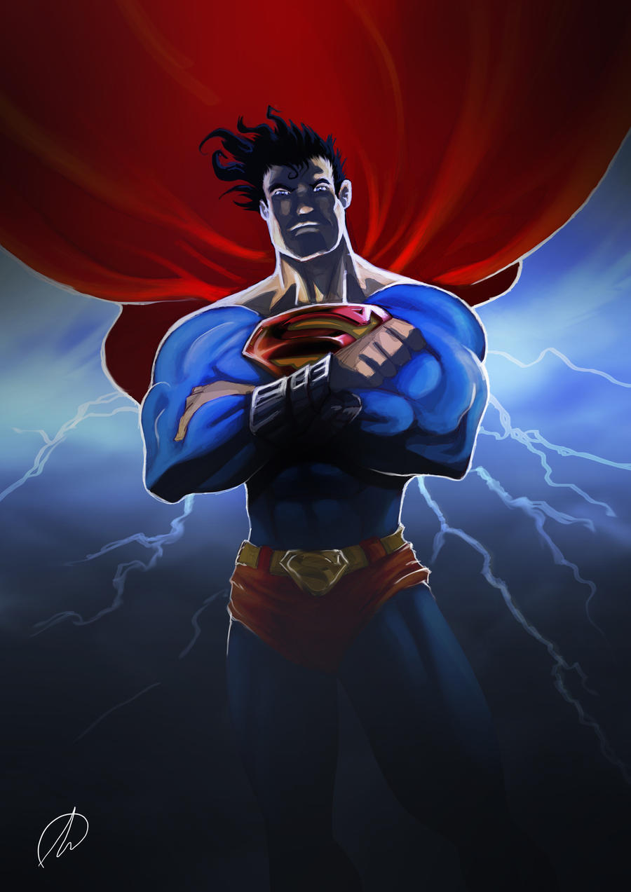 SUPERMAN_BOCETO by TheMonkey-DavidLanza