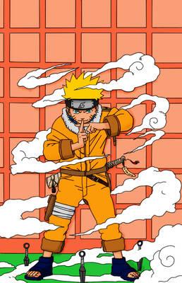 coloured Naruto Uzamaki