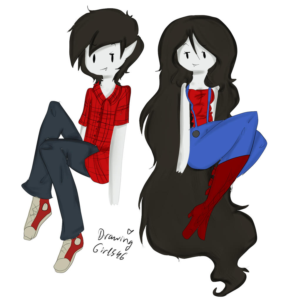 Marshall And Marceline By Drawing Heart