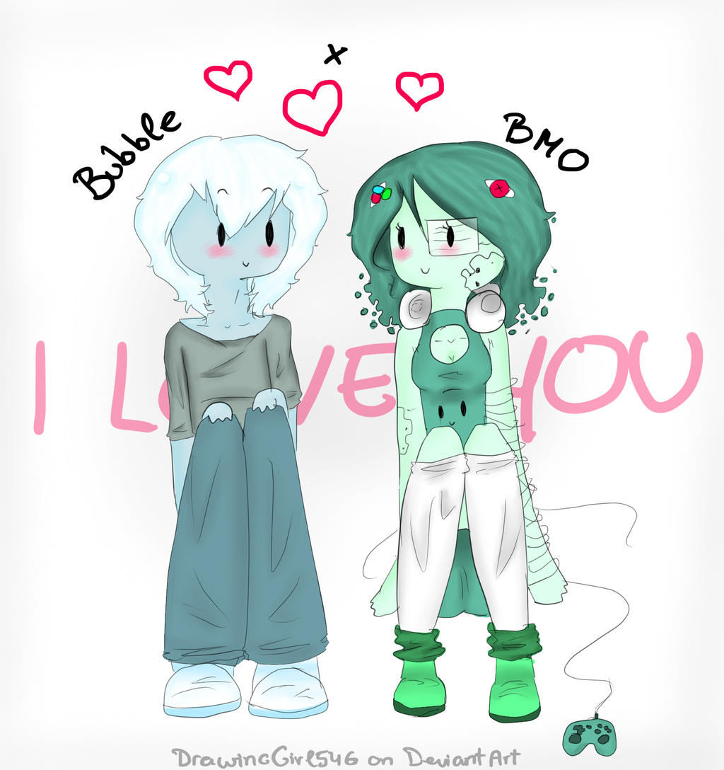 Bubble and BMO by Drawing-Heart