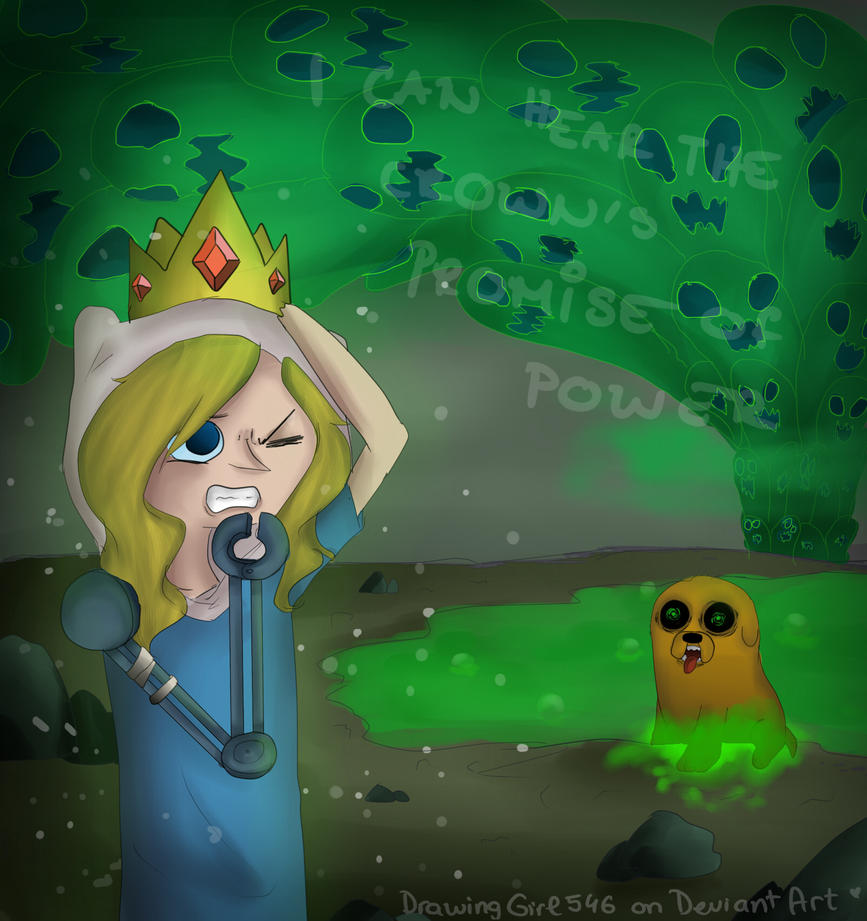 I can feel the crown's promise of power by Drawing-Heart