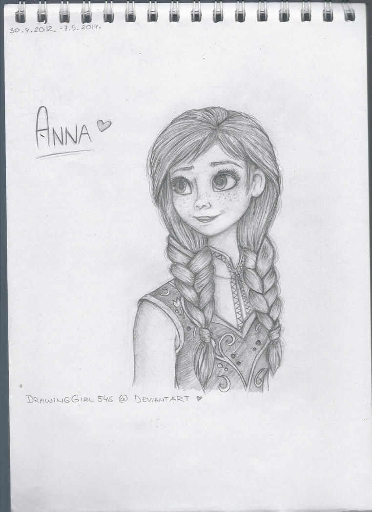 Frozen: Anna by Drawing-Heart