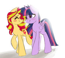 Sunset Shimmer x Twilight Sparkle ((CP)) by Drawing-Heart