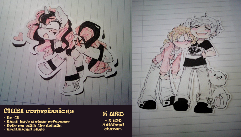 Chibi Commissions :INFO: ((Limited offer)) by Drawing-Heart