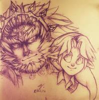 Doodle1 ~hyrule warriors ganondorf, young link by Zimandchowder4evr
