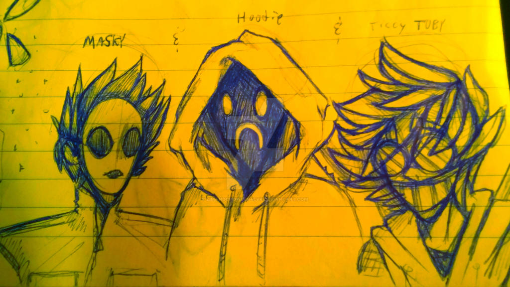 Creepypasta Masky Hoodie Ticci Toby By Zimandchowder4evr On