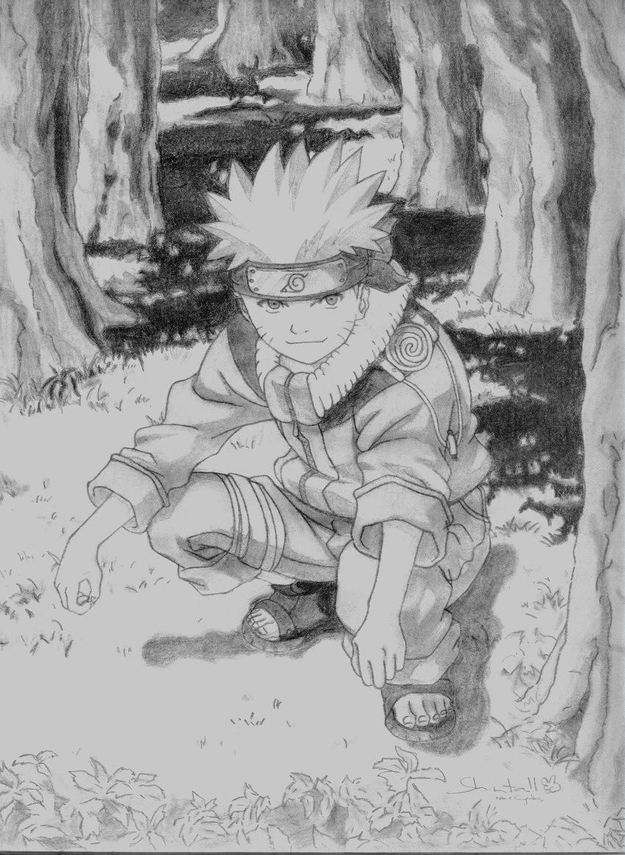 Dibujos de Naruto en blanco y negro  Imagui