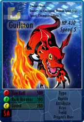 Guilmon - Digimon Fan Card