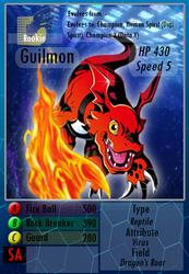 Guilmon - Digimon Fan Card by LadyRK