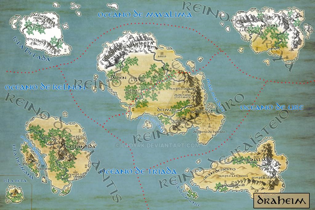 Mapa de Draheim by LadyRK
