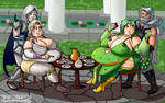 COMMISSION - Queen Rosa and Queen Rydia by ProfessorDoctorC