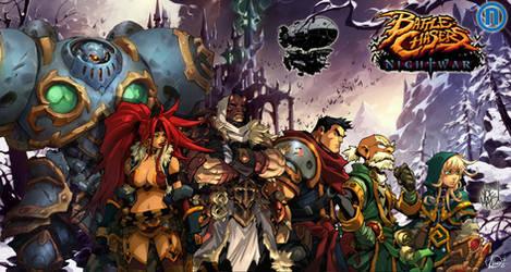 Battle Chasers NightWar full team in winterfell