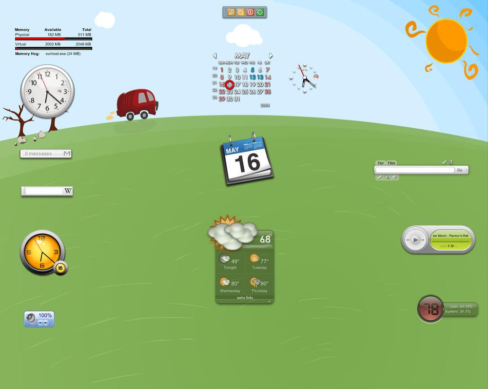 Desktop Widgets by Zimed