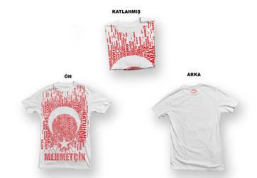 Turkish flag Tshirt Design by omerfarukciftci
