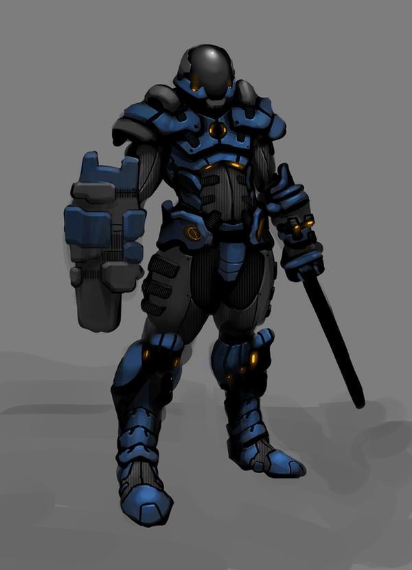 Sci-fi Cop by mohzart