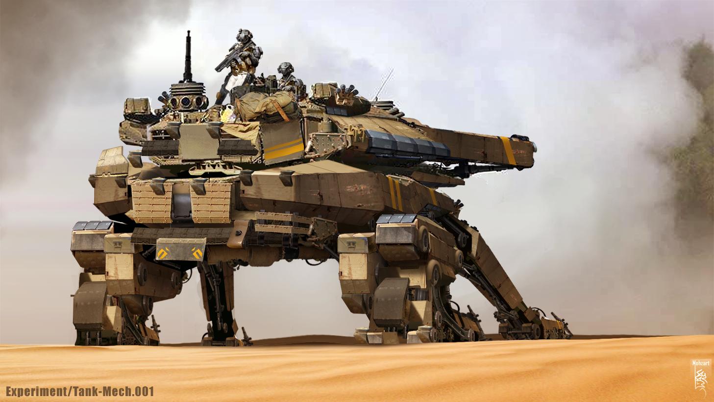 Tank Mech Experiment001 By Mohzart