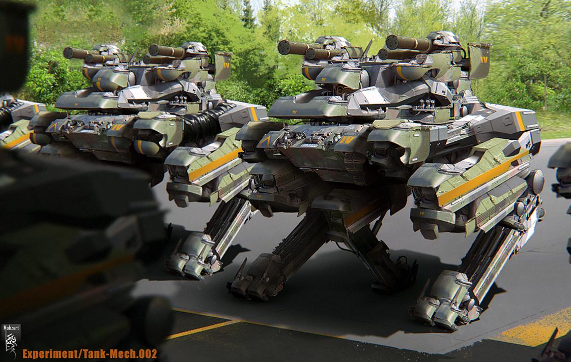 Mecha Tank experiment 002 by mohzart