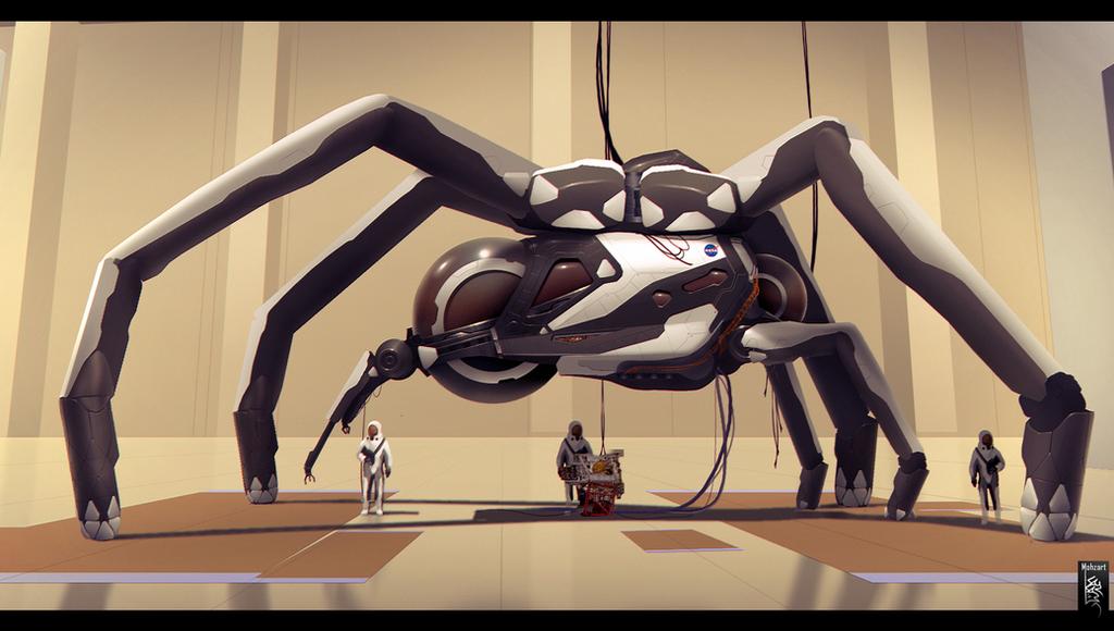 NASA Spider by mohzart