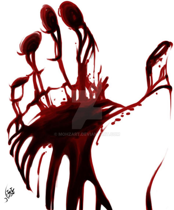 Blood on Cloak by mohzart