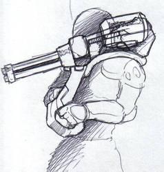 Shoulder mounted Mini-Gun