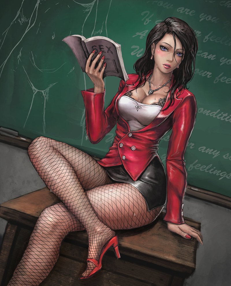 female teacher by neongun