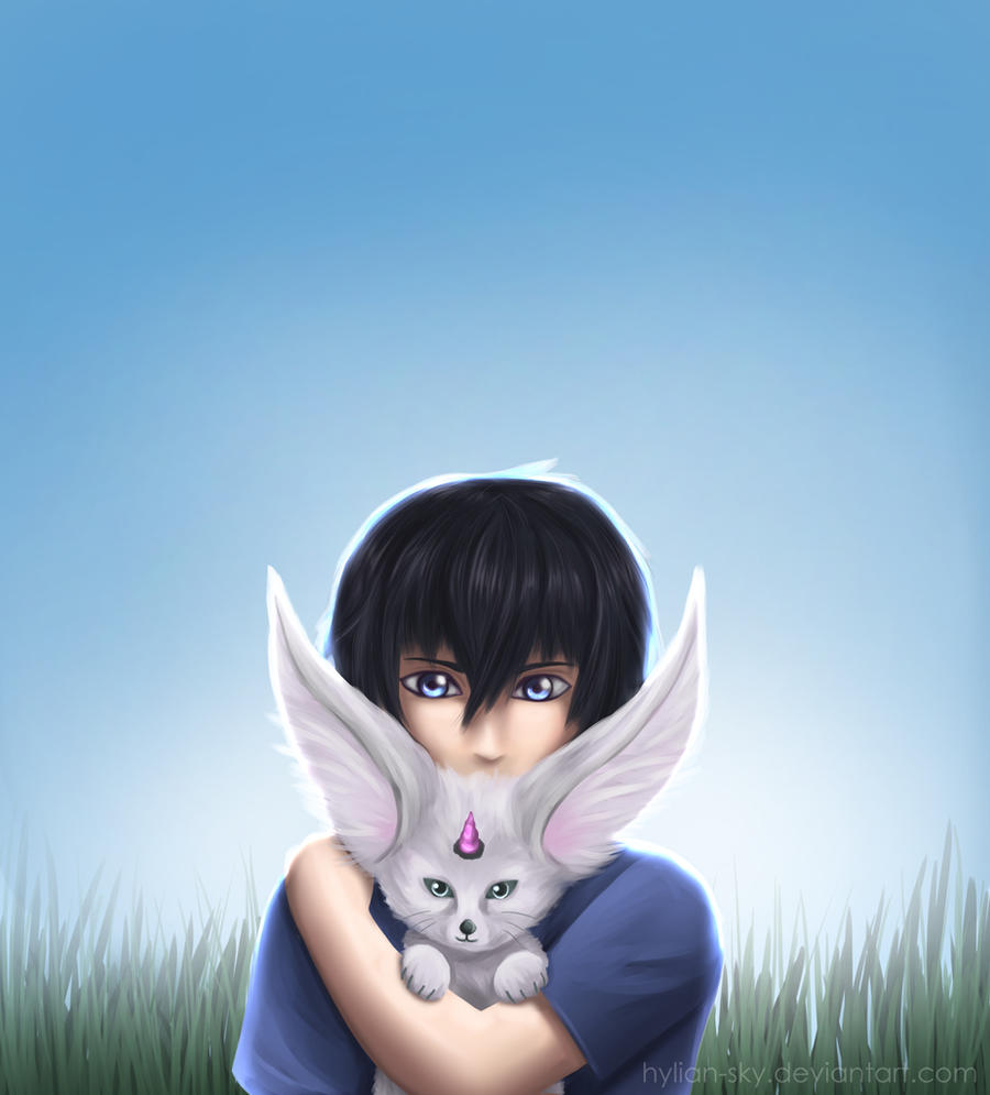 Noctis and Carbuncle by Scarlet---Sky