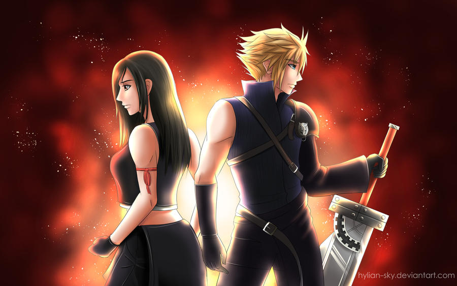 Cloud and Tifa by Scarlet---Sky