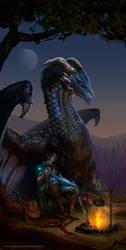 Eragon and Saphira by Apljck