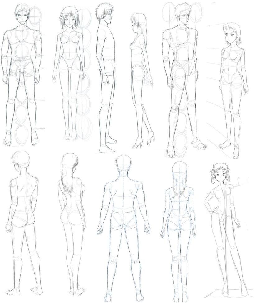 Bocetos de cuerpos by dibujovirtual