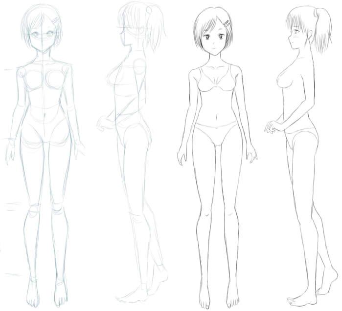 Boceto cuerpo femenino by dibujovirtual