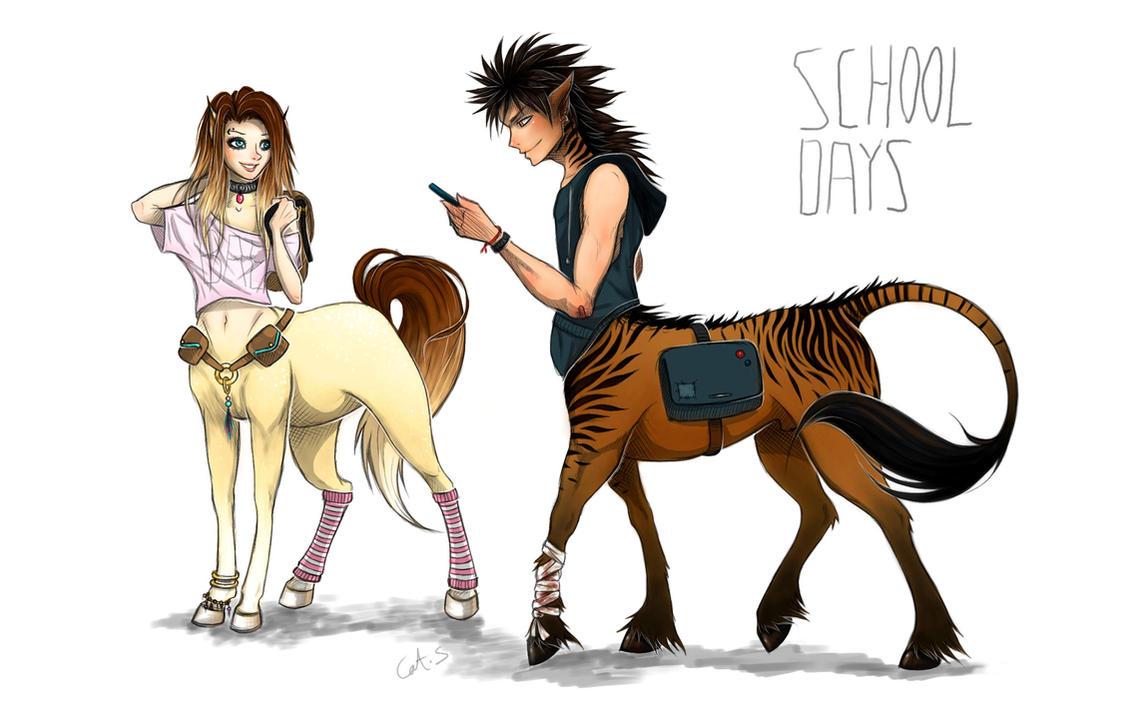 Centaur School Days by Cat-S-Dragoness on DeviantArt