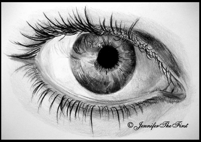 Black and White Eye by JenniferTheFirst on DeviantArt